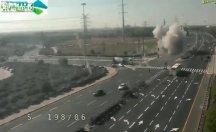 Gazze'den atılan roket İsrail'de otoyola düştü