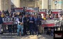 İnsan haklari aktivistleri Houston'da da mağduriyetin sesi oldu!
