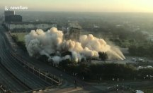 'Dallas eğik kulesi': Yıkım başarısızlığı bina çekirdeğinin çoğunu sağlam bırakıyor