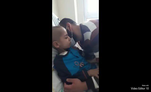 Kanser hastası Ahmet Ataç babasıyla 5 saatliğine buluşabildi