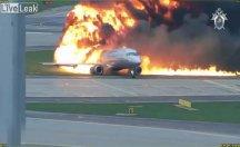 Yanan uçağın yeni görüntüleri ortaya çıktı