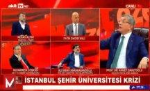 Davutoğlu ile Akitçi canlı yayında birbirine girdiler: Niye bağırıyorsun!