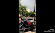ABD'de protestoculara ok ve yayla saldırmaya kalkan ırkçı linç edildi, aracı ateşe verildi
