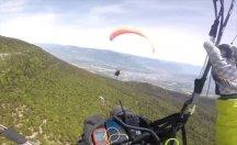 Yamaç paraşütü yaparken ilginç kaza