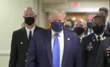 Trump ilk kez maskeli görüntülendi