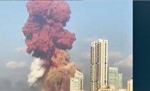 Beyrut'ta patlama anı kamerada!