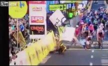 Polonya Bisiklet Turu'nda feci kaza!