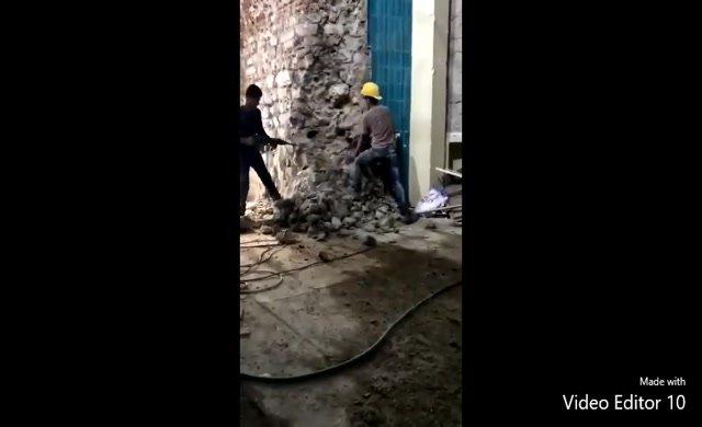 Bu görüntülere pes! Galata Kulesi'ni yıkarak mı restore ediyorlar?