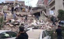 Bornova'da bir bina yıkıldı