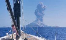 Stromboli Yanardağının patlama anı ortaya çıktı