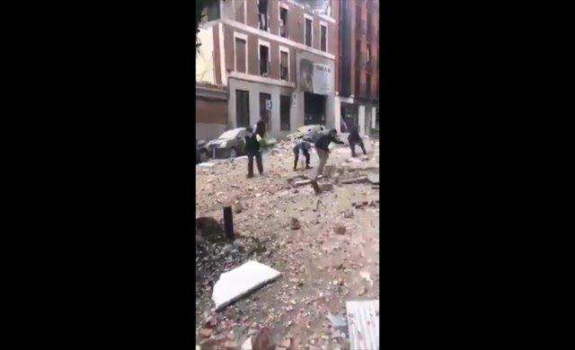 Madrid'in merkezinde şiddetli patlama