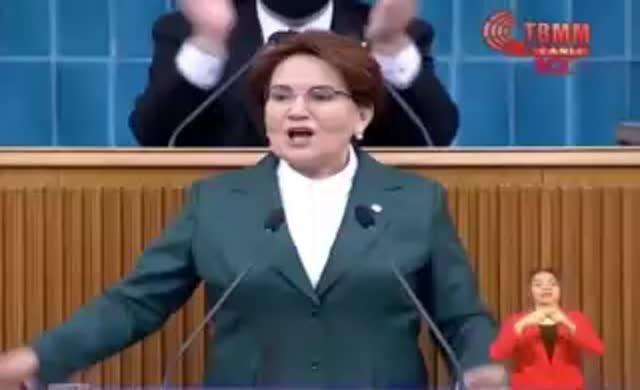 Akşener Uygur kadını kürsüye çıkardı, TBMM TV yayını kesti