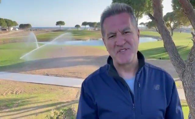 Golf sahası önünde tarım konuşunca...