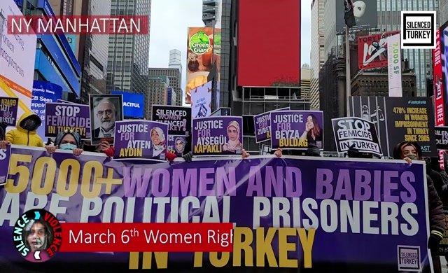Time Square'de Erdoğan Rejimi protesto edildi