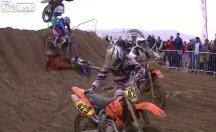 Motokros Şampiyonası'nda talihsiz kaza