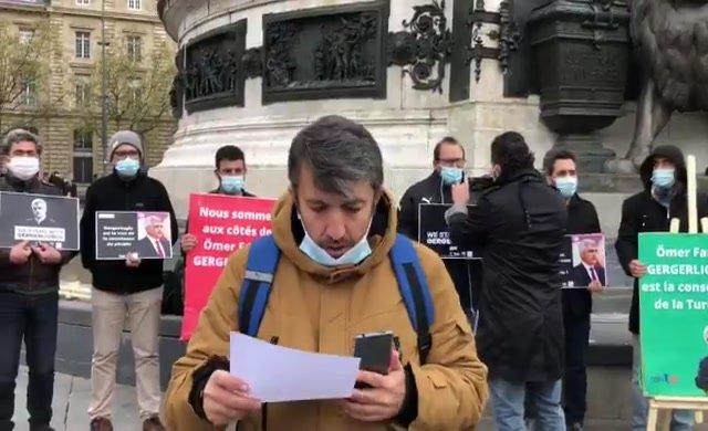 Paris'ten Ömer Faruk Gergerlioğlu'na destek