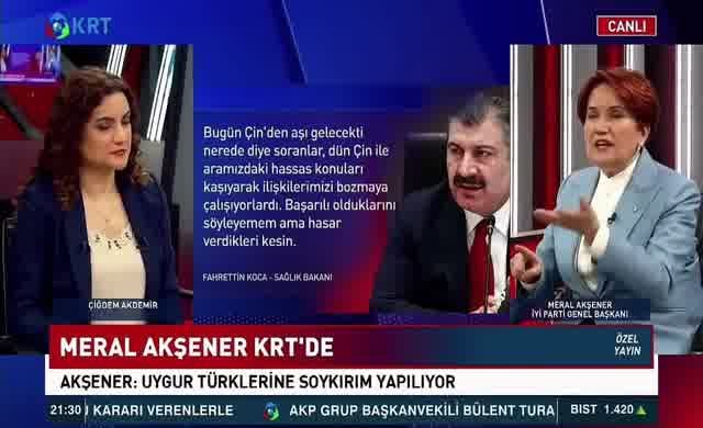 Meral Akşener'den Bakan Koca'ya tepki