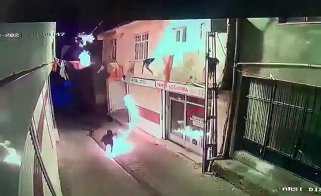 AKP binasına molotof atan provokatör AKP'li ilçe yöneticinin yeğeni çıktı
