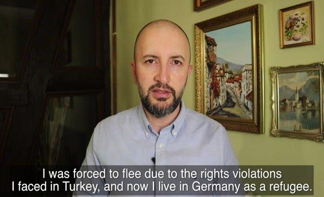 Cevheri Güven Türkiye Mahkemesi önünde basın özgürlüğü ihlalleri hakkında ifade verdi