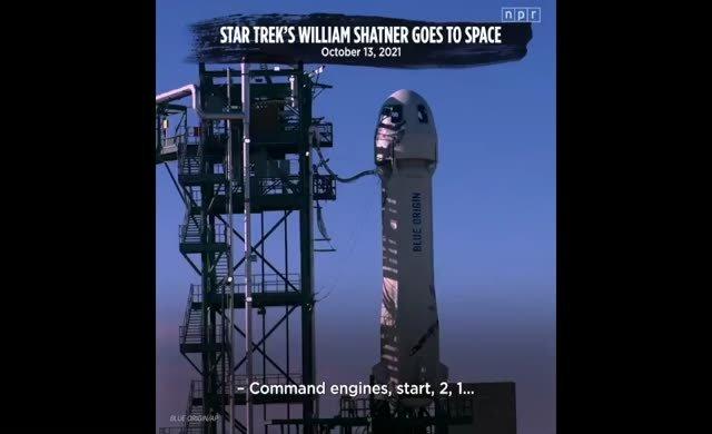 Star Trek'in Kaptan Kirk'ü sonunda gerçekten uzaya çıktı
