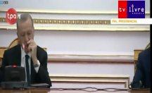Erdoğan kameralar önünde yine uyukladı