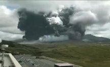 İşte yanardağın patlama anı