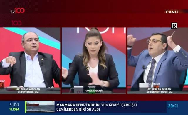 CHP'li ve AKP'li milletvekilleri canlı yayında böyle kavga etti
