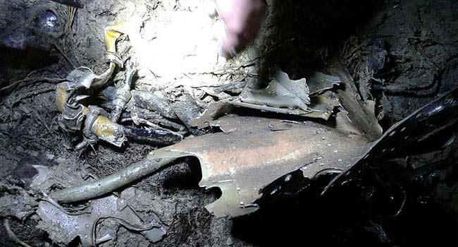 Düşen Suriye uçağının enkaz fotoğrafları paylaşıldı