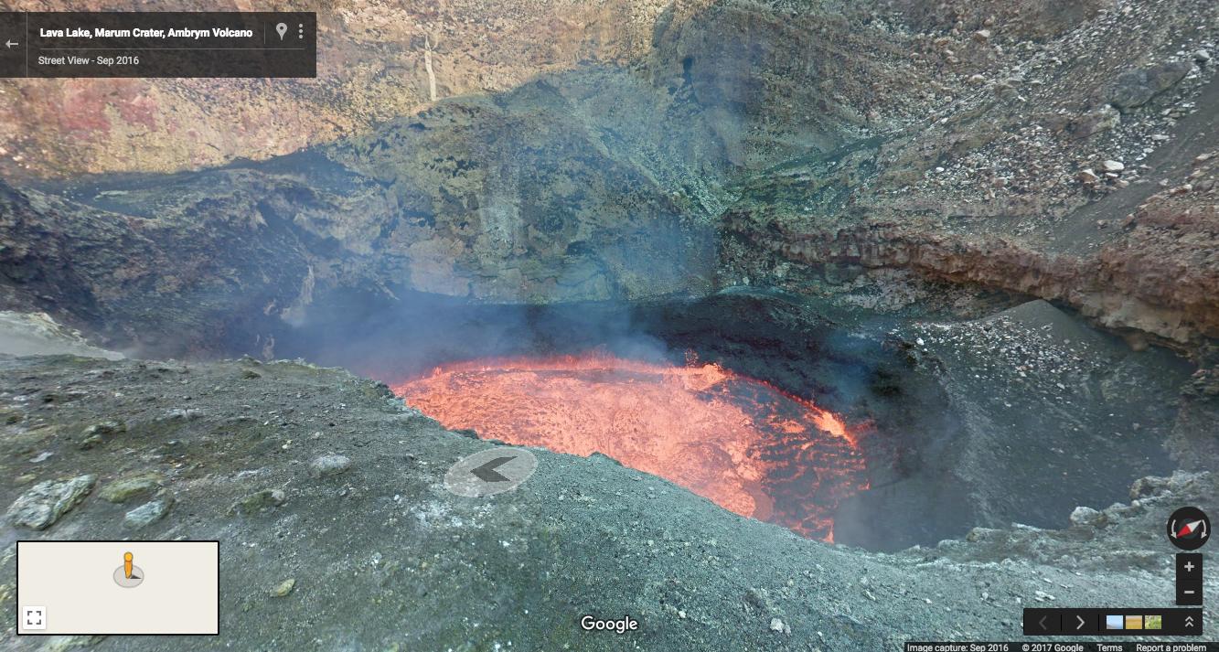 Google yanardağın içine kadar girdi İşte muhteşem görüntüler