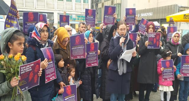 Avrupa'nın 35 şehrinde Türkiye'deki kadınların sesi oldular 7