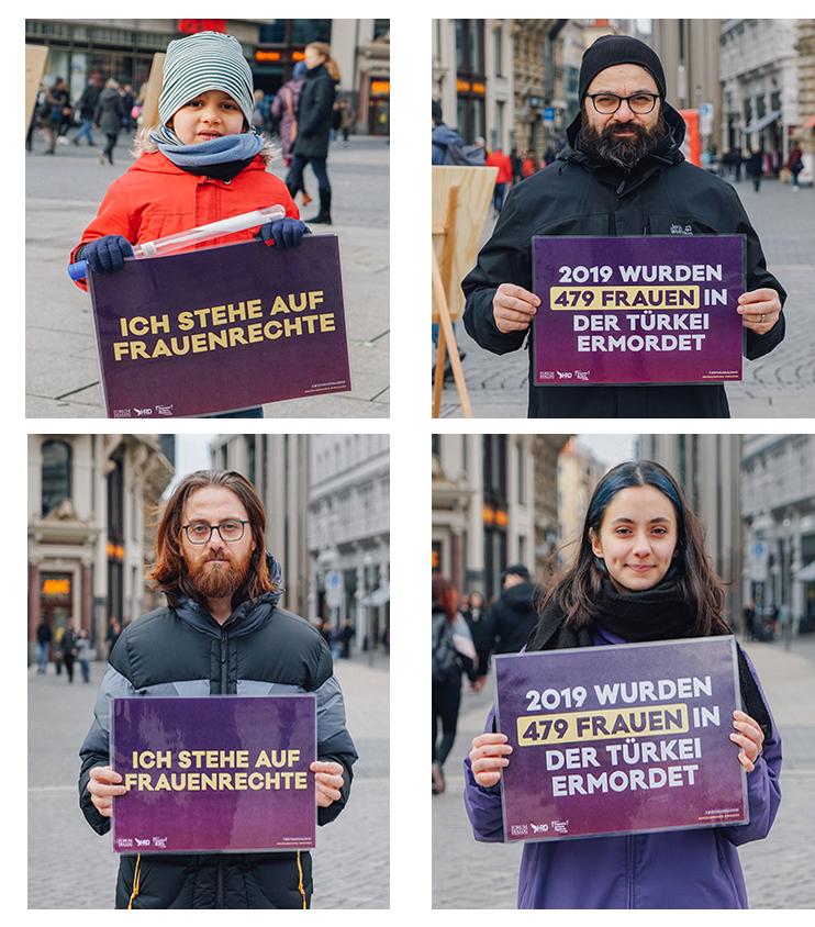 Leipzig Türkiye'deki mağdur kadınları unutmadı 5