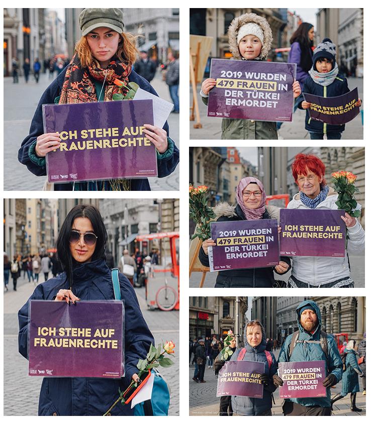 Leipzig Türkiye'deki mağdur kadınları unutmadı 4