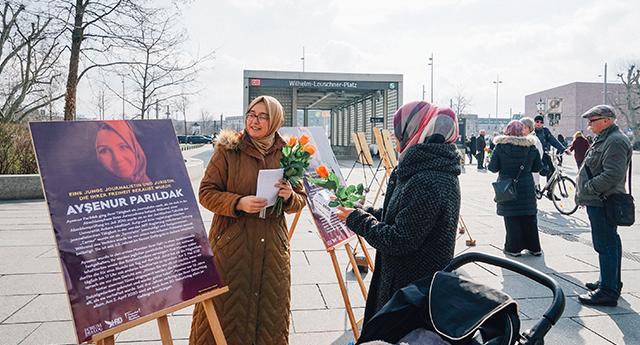 Leipzig Türkiye'deki mağdur kadınları unutmadı 7