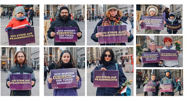 Avrupa'nın 35 şehrinde Türkiye'deki kadınların sesi oldular 3
