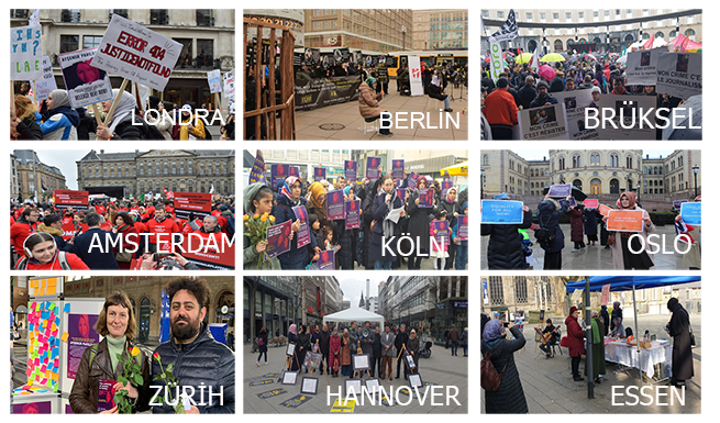 Avrupa'nın 35 şehrinde Türkiye'deki kadınların sesi oldular 2