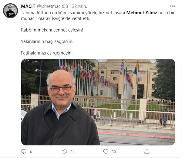 Gurbette bir vefat daha: Mehmet Yıldız ruhunun ufkuna yürüdü 2