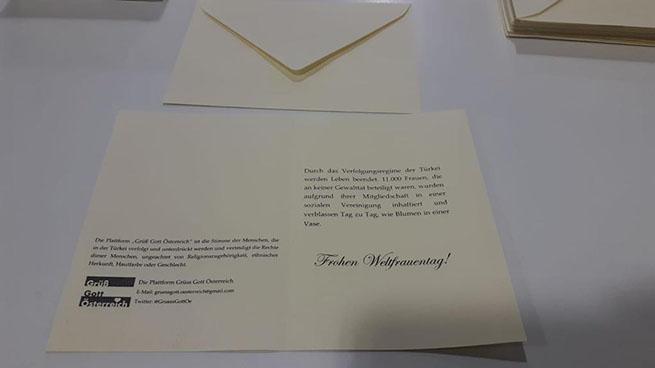Avusturya Parlamentosundaki 73 Kadın milletvekiline çiçek gönderdiler 5