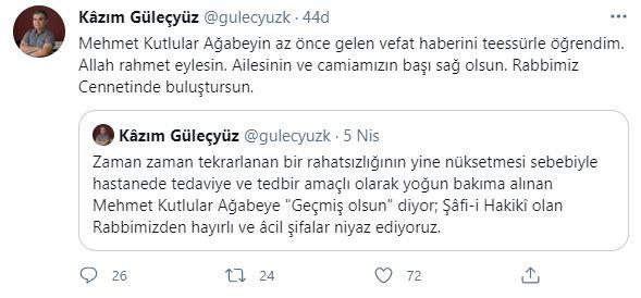 Mehmet Kutlular vefat etti 2